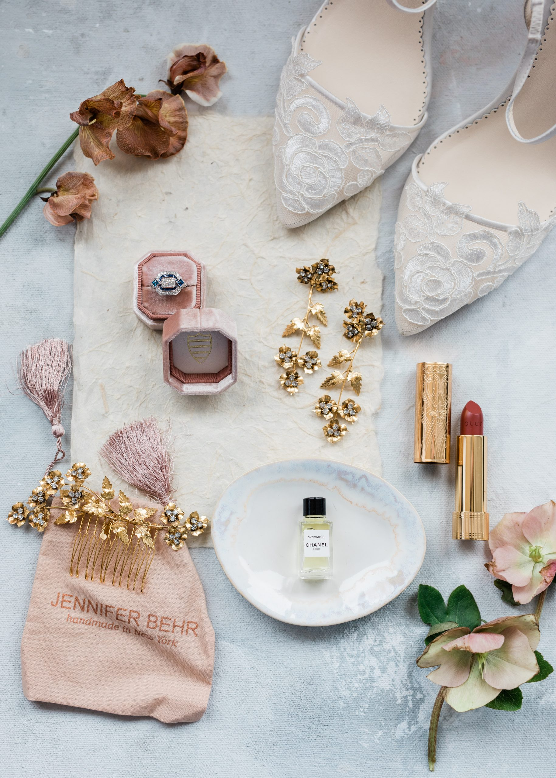 wedding flat lay