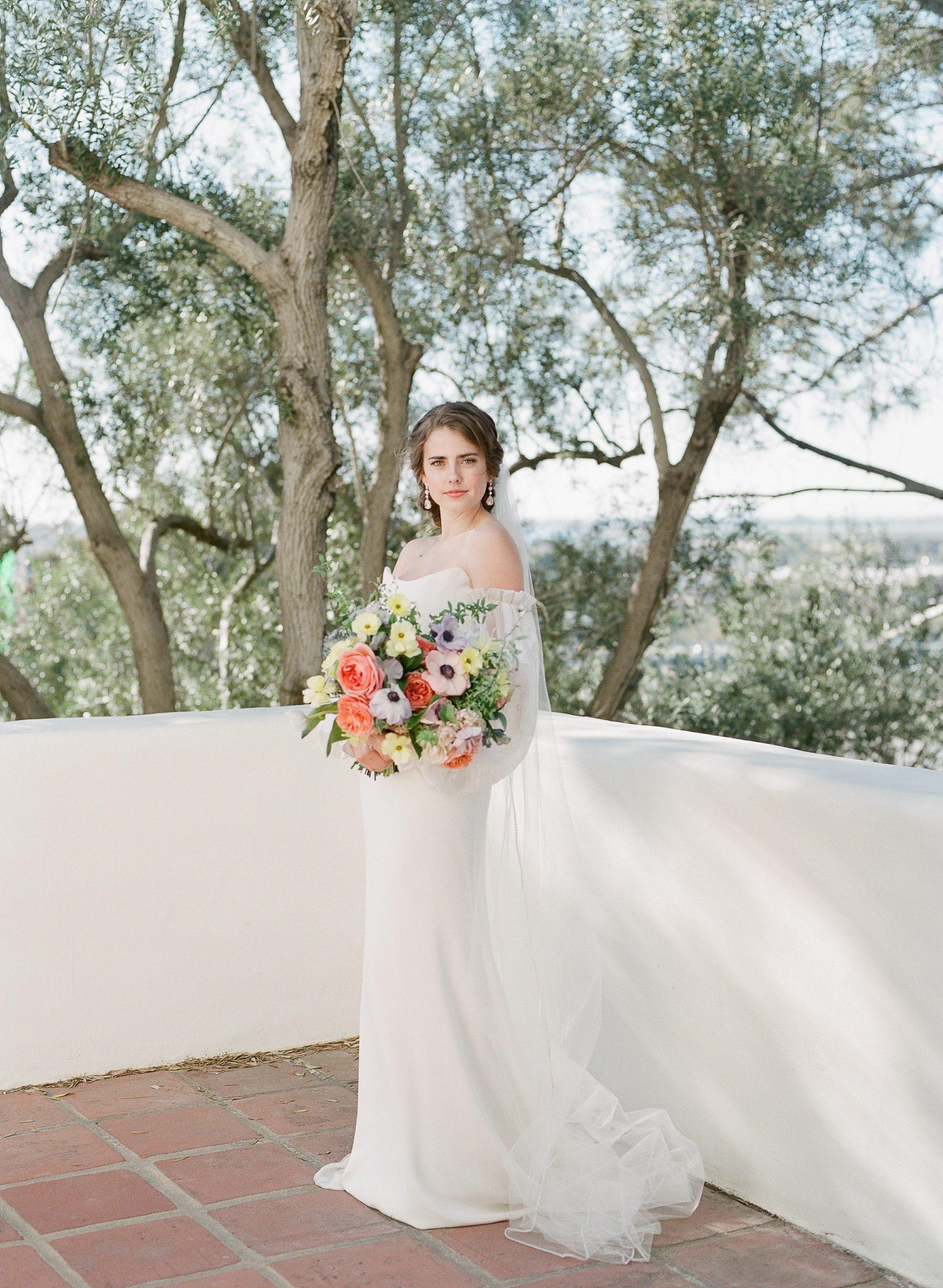 fine art film bridal portrait