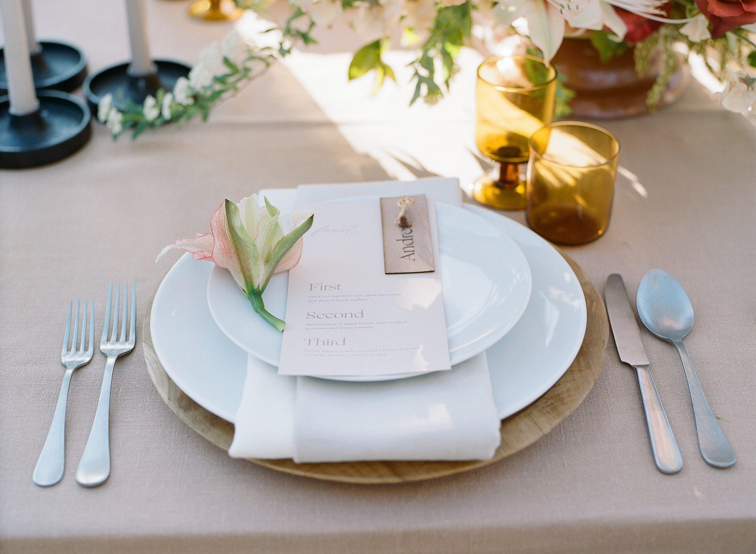 california wedding tablescape