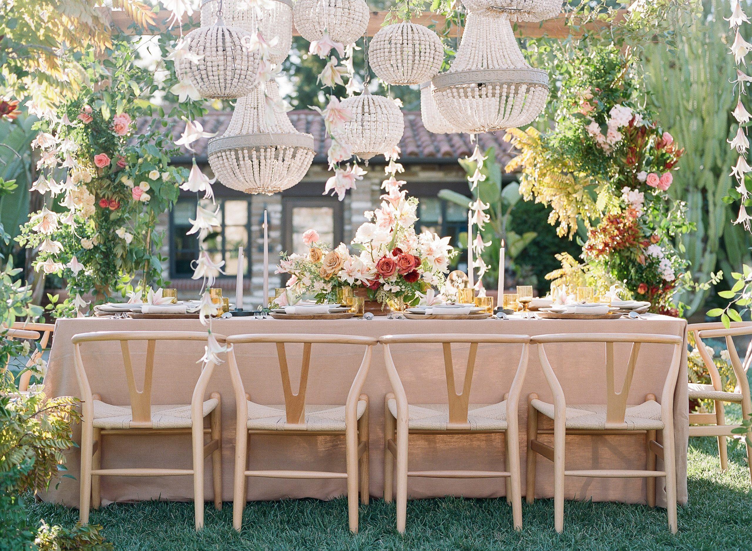 estancia garden wedding table